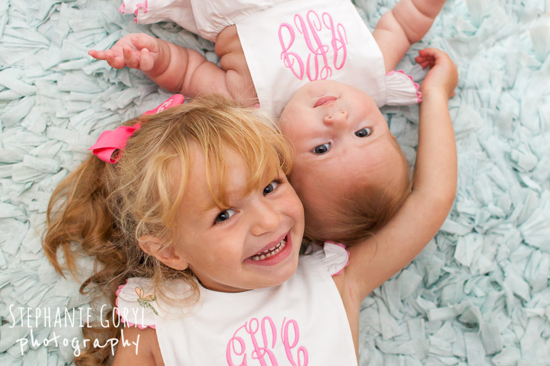 Smiling Sisters Winchester Ma Stephanie Goryl Photography