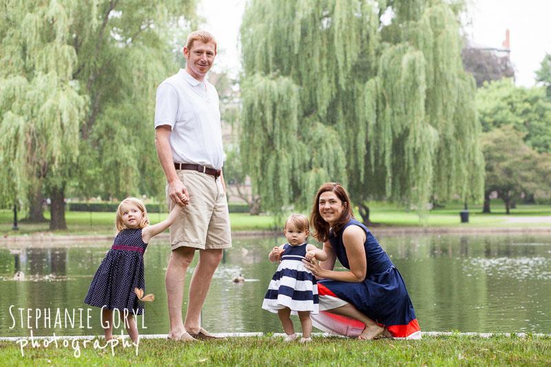 Family portrait Boston Public Garden Boston Photographer